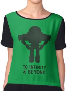 Buzz Lightyear: To Infinity & Beyond - Black Chiffon Top