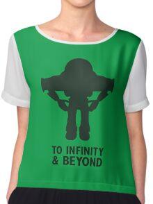 Buzz Lightyear: To Infinity & Beyond - Black Chiffon Top