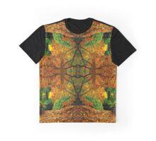 Elven Autumn Gate Kaleidoscope Photo Print Graphic T-Shirt