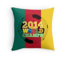 2014 World Champs Ball - Cameroon Throw Pillow
