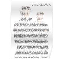 Sherlock Typography Poster