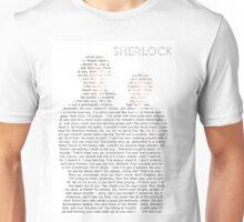 Sherlock Typography Unisex T-Shirt