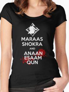 Keep Calm - Maraas Shokra and Anaan Esaam Qun Women's Fitted Scoop T-Shirt