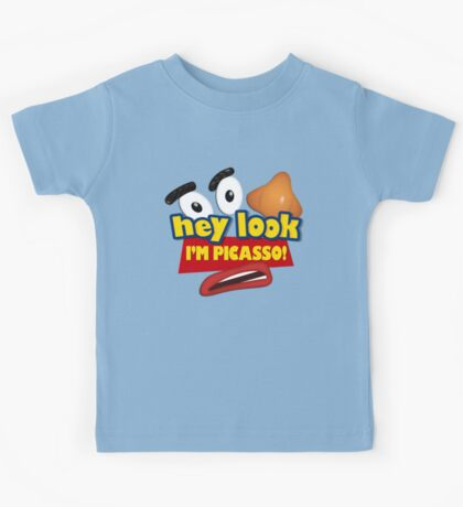 Hey Look I'm Picasso Toy Story Kids Tee
