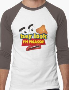Hey Look I'm Picasso Toy Story Men's Baseball ¾ T-Shirt