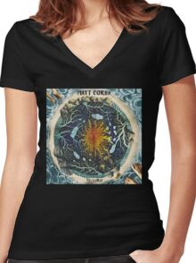 Matt Corby Telluric Women's Fitted V-Neck T-Shirt