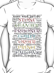 Harry Potter Typography T-Shirt