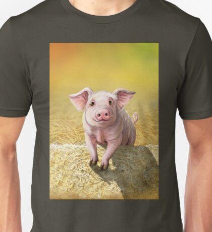 Cute Pink Pig, Original Illustration by Cara Bevan Unisex T-Shirt