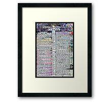 Genesis One  Framed Print