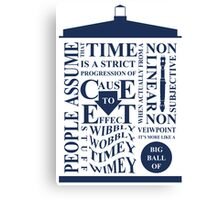 Doctor Who Typography Canvas Print
