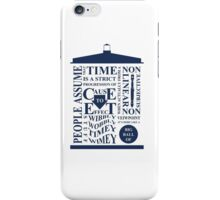 Doctor Who Typography iPhone Case/Skin