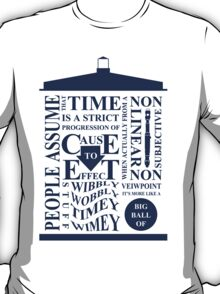 Doctor Who Typography T-Shirt