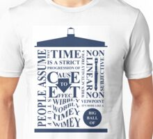 Doctor Who Typography Unisex T-Shirt