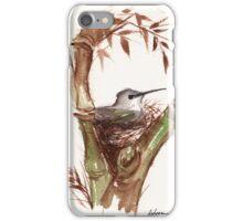 Mrs. Hummingbird - Watercolor iPhone Case/Skin