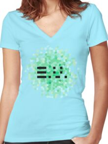 Petals [Inverted] Women's Fitted V-Neck T-Shirt