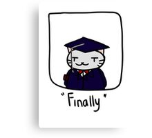 Graduate cat Canvas Print