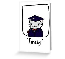 Graduate cat Greeting Card