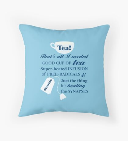 Doctor Who - 10 Tea Quote Throw Pillow