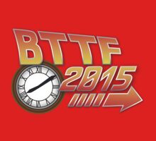 Back to the Future 2015 Logo with Clock One Piece - Long Sleeve