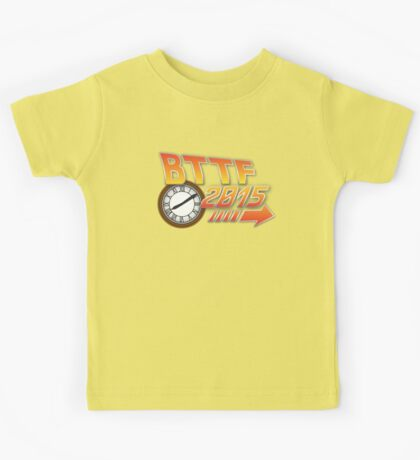 Back to the Future 2015 Logo with Clock Kids Tee