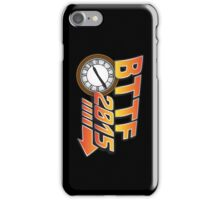 Back to the Future 2015 Logo with Clock iPhone Case/Skin