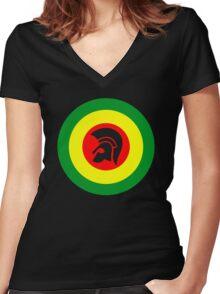 Trojan Women's Fitted V-Neck T-Shirt
