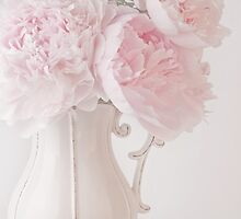 A Jug Of Soft Pink Peonies by Sandra Foster