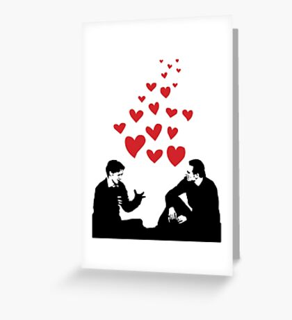 Cherik in the Field with Hearts Greeting Card