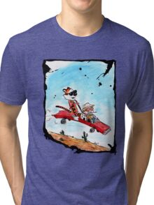 Calvin and Hobbes Fear and Loathing Parody Tri-blend T-Shirt