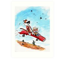 Calvin and Hobbes Fear and Loathing Parody Art Print