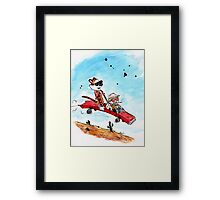 Calvin and Hobbes Fear and Loathing Parody Framed Print