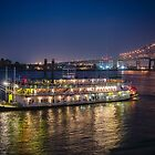 Natchez Riverboat on Mississippi River at New Orleans, Louisiana by Bonnie T.  Barry