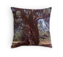 Siesta Time for a Reclining Olive Throw Pillow