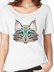 blue cat  Women's Relaxed Fit T-Shirt
