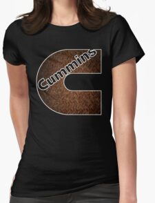 Cummins Rusted Metal Sheet  Womens Fitted T-Shirt