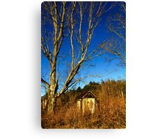 The Old Farmstead Outhouse Canvas Print