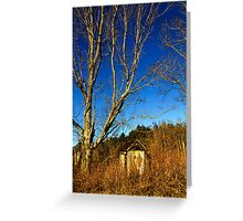 The Old Farmstead Outhouse Greeting Card