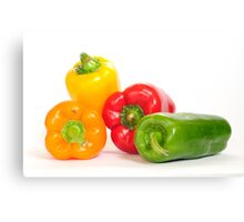 Bell peppers.  Canvas Print