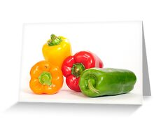 Bell peppers.  Greeting Card