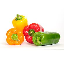 Bell peppers.  Photographic Print