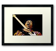 Jimmy Hendrix GLORY Framed Print