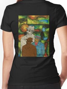 The Musician: Mind-Body-SOUL Women's Fitted V-Neck T-Shirt