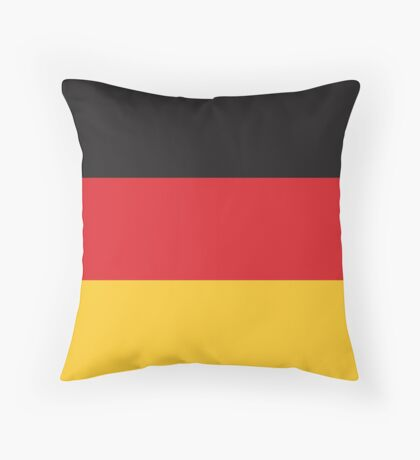 German Flag If you like, please purchase, try a cell phone cover thanks Throw Pillow