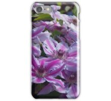 Clematis Nelly Moser iPhone Case/Skin