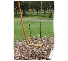 Yellow Swing in a Park Poster