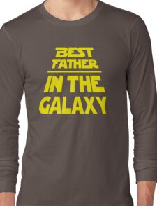 Best Father in the Galaxy - Title Crawl Long Sleeve T-Shirt