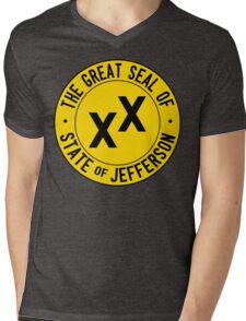 State of Jefferson Mens V-Neck T-Shirt