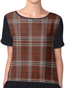 02633 Forsyth County, North Carolina Fashion Tartan Chiffon Top