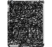 Abstract dark scribble design iPad Case/Skin