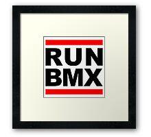 Run BMX Framed Print